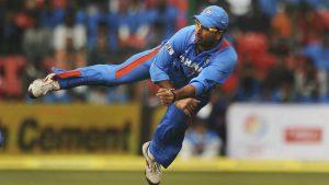 Yuvraj Singh on the field (One of All time Best Fielders in Indian Cricket)
