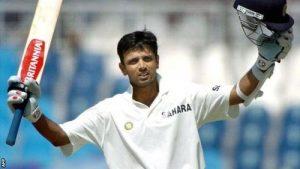 Rahul Dravid celebrating his double century - India Pakistan 2004 series