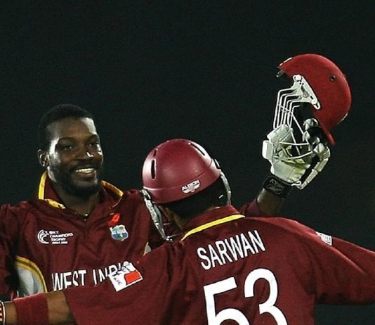 Gayle and Sarwan in happier times