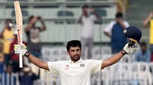 Karun Nair after his 300