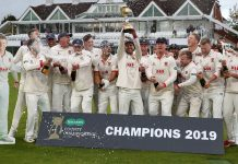 Last year County Champions, Essex