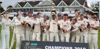 Last year County Champions, Essex