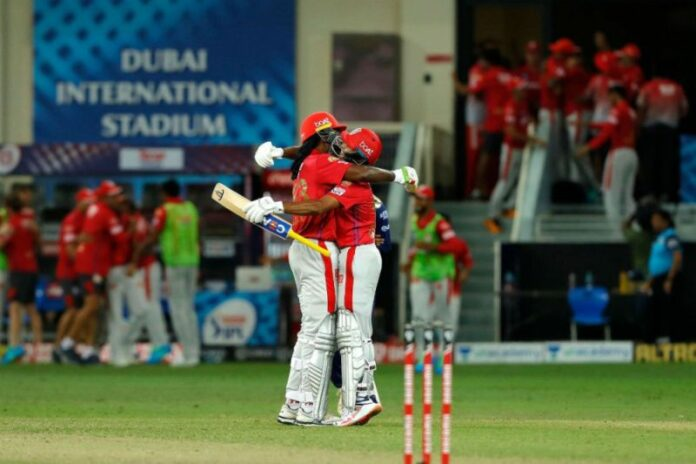 Kings XI Punjab winning the historic double super over.