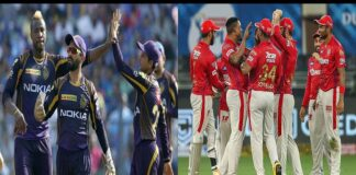 KXIP and KKR lead teh race for the fourth Playoffs spot