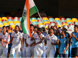 India after winning the Test series down under