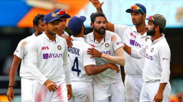 Indian cricket Team at Brisbane