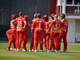 Zimbabwe Cricket Team's Ryan Burl took to twitter to post pics of him gluing cricket shoes