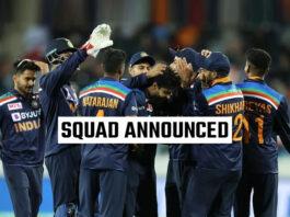 Indian Team for Sri Lanka